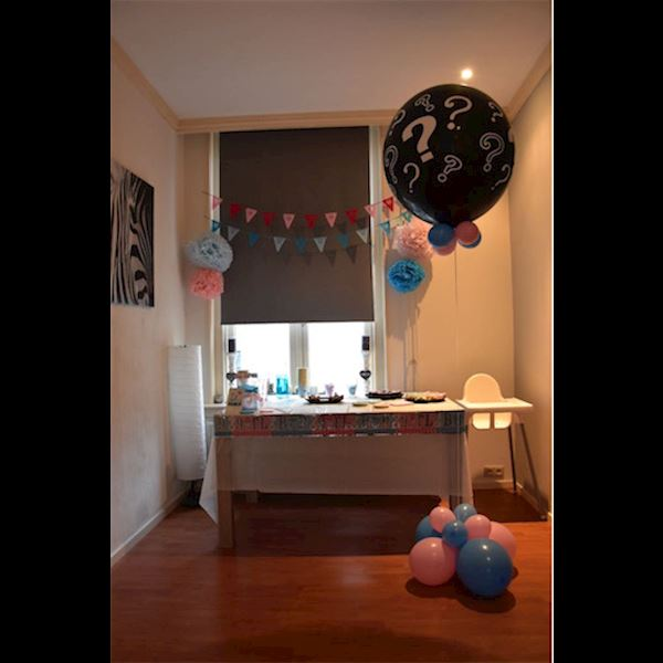 Gender Reveal Ballon incl. helium en confetti